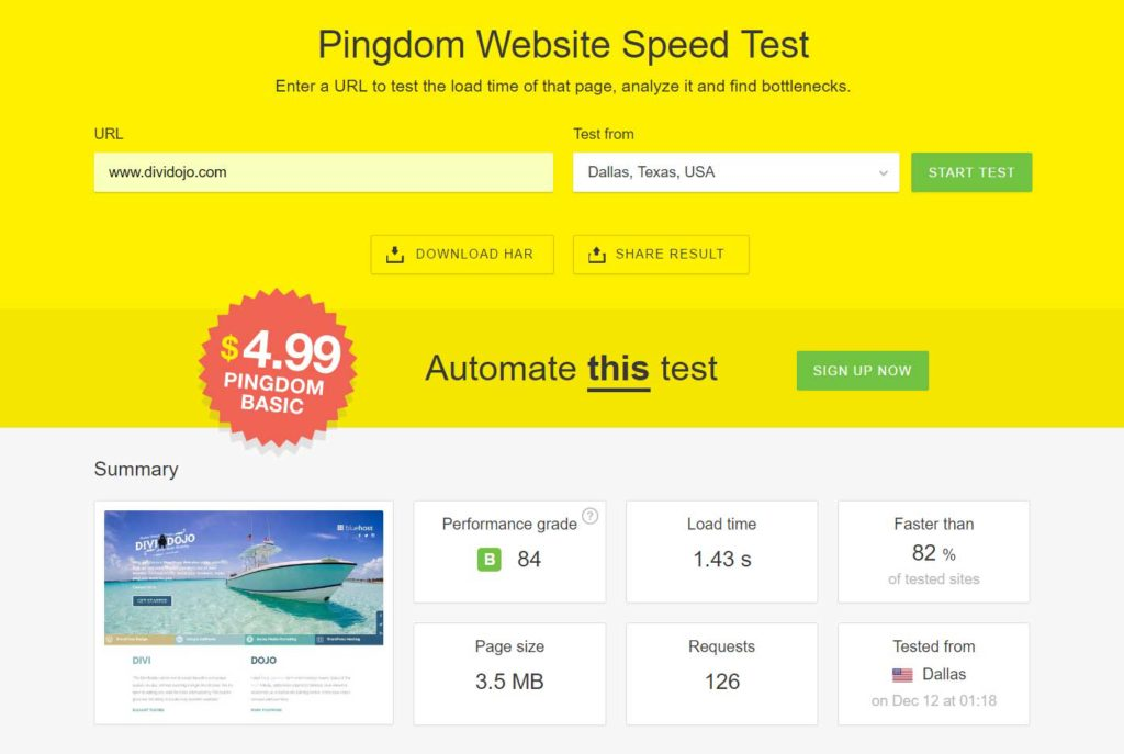 make your site fast with WP Rocket
