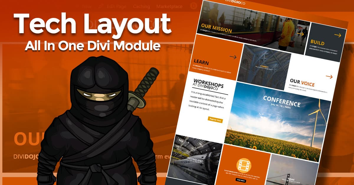 Divi Dojo Co Layout with All In One Extended Module