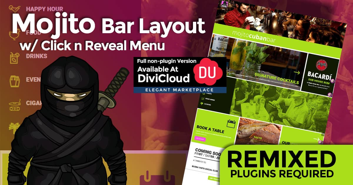 Mojito Remixed Bar Layout with All In one Extended Plugin